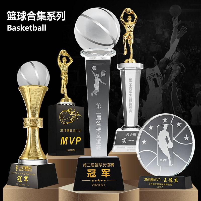 诺格精艺篮球水晶奖杯系列-成都篮球奖杯定制