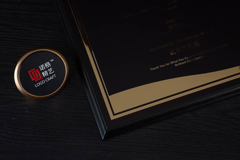诺格精艺黑骑士钛金奖牌细节-成都高端奖牌定制