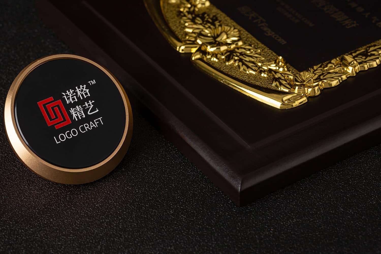 诺格精艺典雅花框奖牌细节参考-成都高端奖牌定制